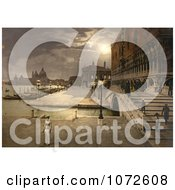 Photochrom Of Doges Palace And St MarkS At Night Royalty Free Historical Stock Photography