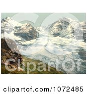 Photochrom Of Eiger Glacier In Switzerland Royalty Free Historical Stock Photography
