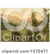 Photochrom Of Engelberg Valley Switzerland Royalty Free Historical Stock Photography