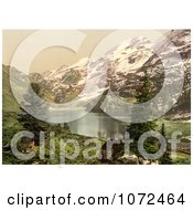 Photochrom Of Engstlen Lake In Switzerland Royalty Free Historical Stock Photography