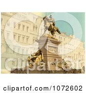 Photochrom Of Equestrian Monument Venice Italy Royalty Free Historical Stock Photography by JVPD