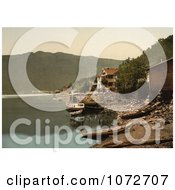 Photochrom Of Fagerstrand Telemark Norway Royalty Free Historical Stock Photography by JVPD