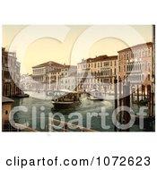 Photochrom Of Foscari And Razzonigo Palaces Venice Italy Royalty Free Historical Stock Photography by JVPD