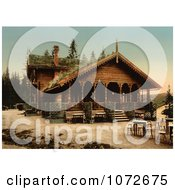 Photochrom Of Fossestuen Hotel Norway Royalty Free Historical Stock Photography by JVPD