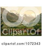 Photochrom Of Frutigen Bernese Oberland Royalty Free Historical Stock Photography