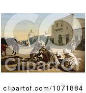 Photochrom Of Fur Vendors Tunisia Royalty Free Historical Stock Photo by JVPD
