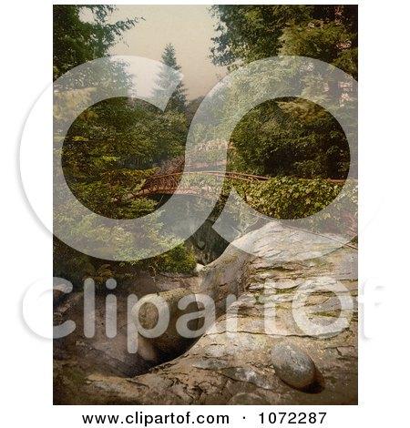 Photochrom of Glacier Garden Pots, Switzerland - Royalty Free Historical Stock Photography by JVPD