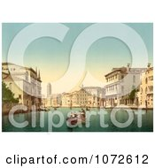 Photochrom Of Gondolas Venice Italy Royalty Free Historical Stock Photography by JVPD