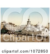 Photochrom Of Government Place Algiers Algeria Royalty Free Historical Stock Photography by JVPD