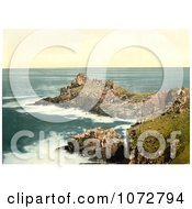 Photochrom Of GurnardS Head St Ives Royalty Free Historical Stock Photography by JVPD