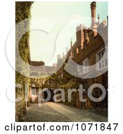 Photochrom Of Hampton Court Palace Gateway Royalty Free Historical Stock Photo by JVPD