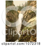 Photochrom Of Handegg Falls Switzerland Royalty Free Historical Stock Photography by JVPD