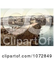 Photochrom Of Harbor In Algiers Algeria Royalty Free Historical Stock Photography by JVPD