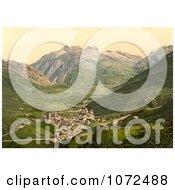 Photochrom Of Hospenthal Andermatt Switzerland Royalty Free Historical Stock Photography