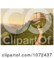 Photochrom Of Hotel Stanserhorn In Switzerland Royalty Free Historical Stock Photography