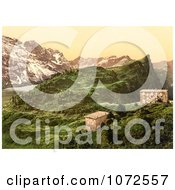 Photochrom Of Hotel Trubsee In Switzerland Royalty Free Historical Stock Photography
