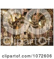 Photochrom Of Interior Of Scalzi Venice Italy Royalty Free Historical Stock Photography by JVPD