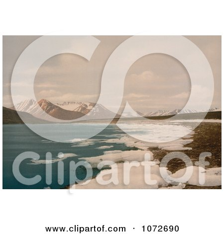 Photochrom of Isefiorden, Spitzbergen, Norway - Royalty Free Historical Stock Photography by JVPD