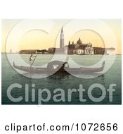 Photochrom Of Isola Di San Giorgio Royalty Free Historical Stock Photography