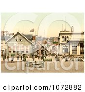 Photochrom Of Kaiserstrasse In Helgoland Germany Royalty Free Historical Stock Photography by JVPD