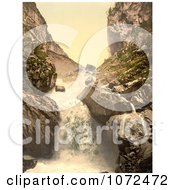 Photochrom Of Kander Fall In Switzerland Royalty Free Historical Stock Photography by JVPD