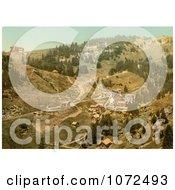 Photochrom Of Klosterli Rigi Switzerland Royalty Free Historical Stock Photography by JVPD