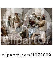 Photochrom Of Male Stone Cutters In Jerusalem Israel Royalty Free Historical Stock Photography by JVPD