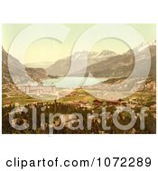 Photochrom Of Maloja In Switzerland Royalty Free Historical Stock Photography by JVPD