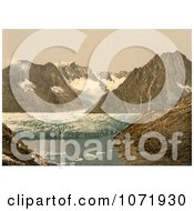 Photochrom Of Marjelensee Glacier Switzerland Royalty Free Historical Stock Photo by JVPD
