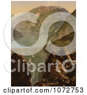 Photochrom Of Merok Geiranger Fjord Norway Royalty Free Historical Stock Photography