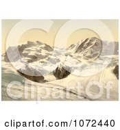 Photochrom Of Monte Rosa And Gorner Glacier In Switzerland Royalty Free Historical Stock Photography