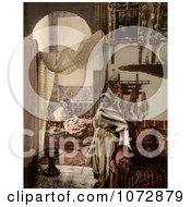 Photochrom Of Moorish Women Indoors Algeria Royalty Free Historical Stock Photography