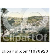 Photochrom Of Mount Olivet And Garden Of Gethsemane Royalty Free Historical Stock Photo by JVPD