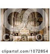 Photochrom Of Notre Dame DAfrique Basilica Interior Algiers Algeria Royalty Free Historical Stock Photography by JVPD