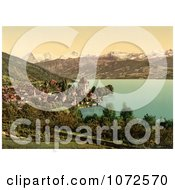 Photochrom Of Oberhofen Village In Switzerland Royalty Free Historical Stock Photography