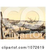 Photochrom Of Palazzo Dei Dogi Venice Royalty Free Historical Stock Photography by JVPD