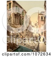 Photochrom Of Paradise Bridge Venice Italy Royalty Free Historical Stock Photography by JVPD