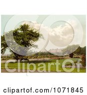 Photochrom Of Park At Hampton Court Palace London England Royalty Free Historical Stock Photo by JVPD