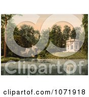 Photochrom Of Pavillion And Rock Of Marie Antoinette At Petit Trianon Royalty Free Historical Stock Photo