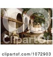Photochrom Of People At A Moorish Cafe In Tunis Tunisia Royalty Free Historical Stock Photography
