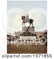 Photochrom Of People At Prince MichaelS Monument In Belgrade Serbia Royalty Free Historical Stock Photo by JVPD