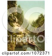 Photochrom Of People In A Boat Edmunds Klamm Royalty Free Historical Stock Photography by JVPD
