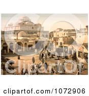 Photochrom Of People In Bab Suika Suker Square Tunis Tunisia Royalty Free Historical Stock Photography by JVPD