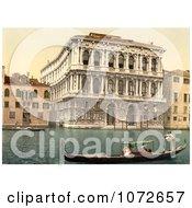 Photochrom Of Pesaro Palace Venice Italy Royalty Free Historical Stock Photography