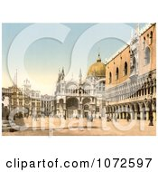 Photochrom Of Piazzetta Di San Marco Royalty Free Historical Stock Photography by JVPD
