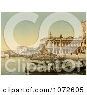 Photochrom Of Piazzetta Di San Marco Venice Royalty Free Historical Stock Photography by JVPD