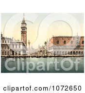 Photochrom Of Piazzetta Venice Italy Royalty Free Historical Stock Photography