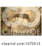Photochrom Of Picture The Lion Monument In Switzerland Royalty Free Historical Stock Photography