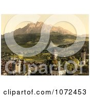 Photochrom Of Pilatus As Seen From Lucerne Royalty Free Historical Stock Photography