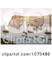 Photochrom Of Port Erin Isle Of Man England Royalty Free Historical Stock Photography by JVPD